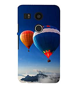 Hot Air Balloon 3D Hard Polycarbonate Designer Back Case Cover for LG Nexus 5X :: LG Google Nexus 5X New