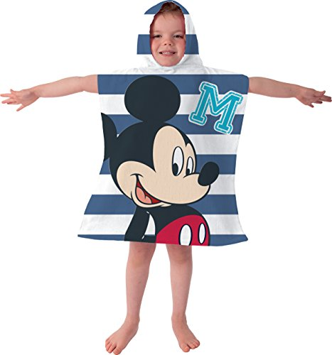 Disney poncho con topolino, minnie, telo mare, telo da bagno, taglia unica – ideale per vacanze dell' estate. mickey mouse