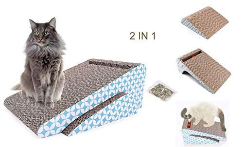 atzbrett,Kratzbrett für Katzen mit Katzenminze,Kratzmöbel,Katzenspielzeug Beschaftigung,Katzenspielzeug Kratzmöbel Kratzmatte Kratzbretter aus Recycelbar Wellpappe ()