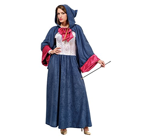 Cinderella Gute Fee Kostüm Damen Märchen Kostüm Blau Pink - - Cinderellas Gute Fee Kostüm