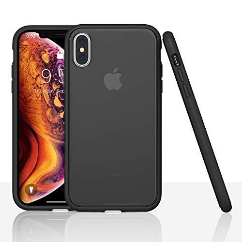 AINOPE Handyhülle kompatibel iPhone XS Max, Anti-Kratzer Hülle Schock-Adsorption Phone Case Phone Cover für iPhone XS Max iPhone 6.5 inch (Schwarz)