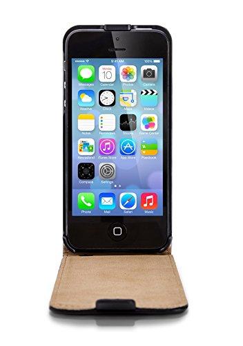 ArktisPRO 1122163 ULTRA SLIM PREMIUM Echtglas Displayschutz für Apple iPhone 5/5S/5C transparent iPhone 5c Hülle Leder Flipcase schwarz