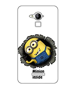 Happoz Coolpad Note 3 lite Cases Back Cover Mobile Pouches Shell Hard Plastic Graphic Armour Premium Printed Designer Cartoon Girl 3D Funky Fancy Slim Graffiti Imported Cute Colurful Stylish Boys D055