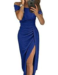 Amazon.it  Moda Vestiti Con Spalline - Vestiti   Donna  Abbigliamento 5347d12d78a