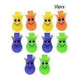 Jiamins 10 Stücke Kunststoff Ente Quacker Pfeifen, Mitbringsel Tasche Füllstoff, Kinder Kinder Spielzeug