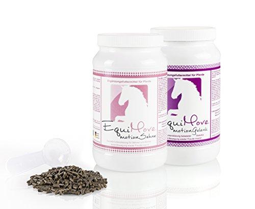 EquiMove motion Sehne & EquiMove motion Gelenk - Je eine Dose (1,5 kg), das Kombi-Angebot für dein Pferd. Die optimale Kombination bei Problemen von Gelenken und Sehnen sowie Phasen starken Trainings -