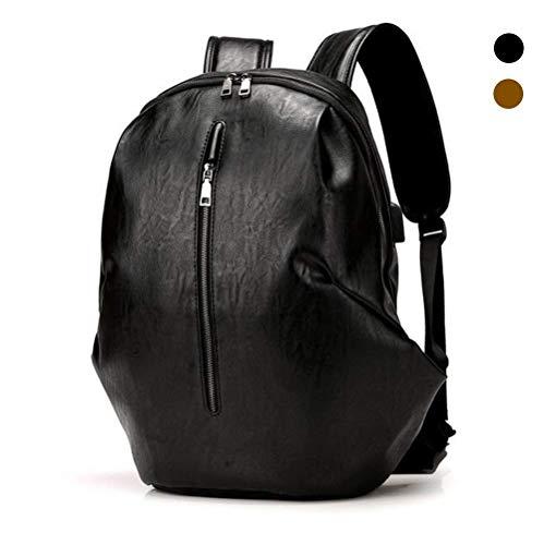 OLT-Backpack Multifunktionaler wasserdichter Outdoor-Reiserucksack für Männer und Frauen im College-Stil mit USB-Ladeanschluss (Color : Black)