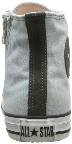 Converse, All Star Hi Side Zip Canvas, Sneaker, Unisex - adulto Mirage Grey/Gunmet.Distressed