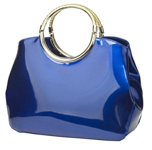 LAIDAYE Weibliche Art Und Weise PU-Lackleder Handtasche Große Tasche 4
