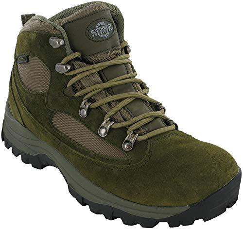 Northwest Scarpe da Trekking Impermeabili da Passeggio Uomo Kendal con Lacci Outdoor Scarpe - Kaki, 43