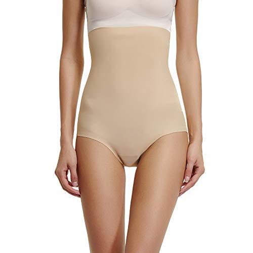 Joyshaper Figurformender Miederslip Damen Bauch Weg Stark Formend ohne Bein Miederhose Miederpants Nahtlose Hohe Taille Shaping-Unterwäsche Mit Bauch-Weg-Effekt (Beige, X-Large)