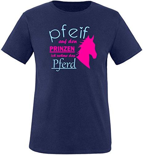 EZYshirt® Pfeif auf den Prinzen ich nehm das Pferd Kinder T-Shirt