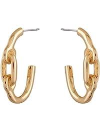 Estelle One Gram Gold Latest Chain Design Stud Ear Ring Jewellery Set  Big Long Golden Colour Ladies Women Hoop...