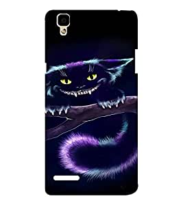 EPICCASE Scary Cat Mobile Back Case Cover For Oppo F1 (Designer Case)