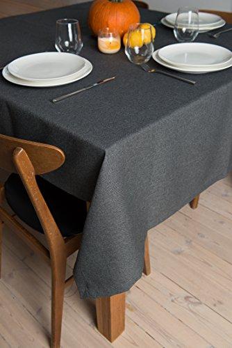 Rollmayer abwaschbar Tischdecke Wasserabweisend/Lotuseffekt (Melange Grafit 22, 150x350cm) Leinenoptik Tischtuch mit pflegeleicht Fleckschutz, Rechteckig, Farbe & Größe wählbar