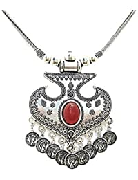 Muccasacra Hot Selling Traditional Looks Kunj Stone, Alloy, Sterling Silver Necklace