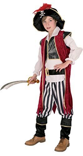 Karneval-Klamotten Piraten Kostüm Kinder Piratenkapitän Größe 152