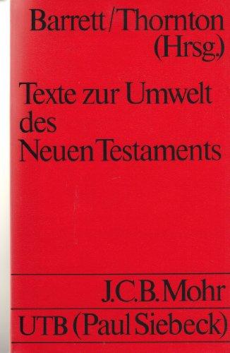 Texte zur Umwelt des Neuen Testaments.