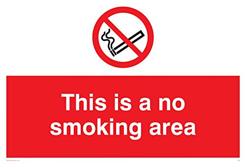 Viking segni ps9-a2l-v This is a no smoking area Sign, vinile, 400mm altezza x 600mm larghezza