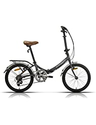 Megamo Zambra Bicicleta Plegable de Paseo, Unisex Adulto, Gris, M