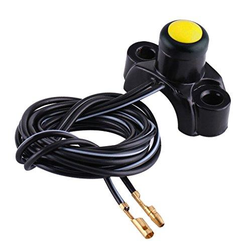 Preisvergleich Produktbild Sharplace Motor Knopfschalter ATV 22mm Lenker Motor Start Knopfschalter für ATVs, Quad Bikes, Go Carts - Gelb
