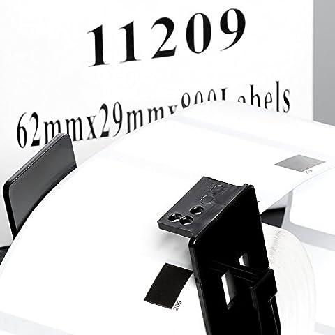 itecxpress24–2x Label Rouleau étiquettes d'adresses compatible à Brother dk 1120929x 62mm 800étiquettes avec la bobine QL550Series QL 570720u.v.w.