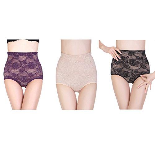 Surker Ladies postpartum Corset Body Pantalons Sous-v¨ºtements de mise en forme Violet