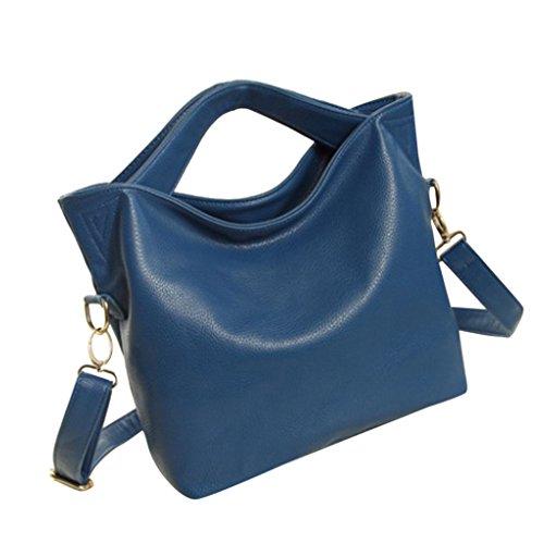 Beiläufige Art- und Weisedame-große Handtaschen-Umhängetasche-Geldbeutel JYJMWeiblicher Hauptkurierbeutel Schultertasche Einkaufstasche (Größe: 26cm (L) * 2cm (W) * 32cm (H), Blau) (Spade Kate Stroh)