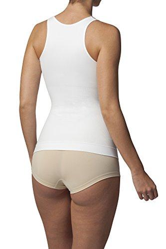 Sleex Figurformendes Damen Unterhemd (mit hoeherem Ruecken) (44042) Weiss (White)