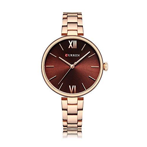 Ying xinguang Relogio Luxus Damen Casual Uhren Wasserdicht Armbanduhr Frauen Mode Kleid Gold Uhr, 8