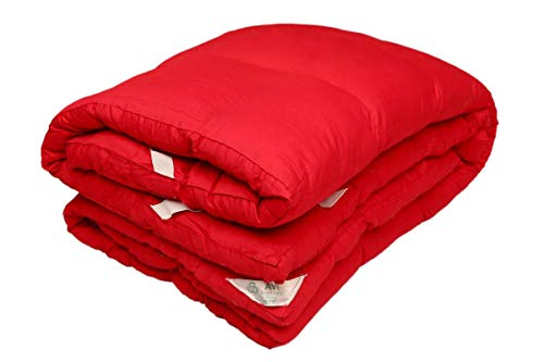 AVI-2500-GSM-Queen-Size-Microfiber-Mattress-Topper-60-x-78inches-Cherry-Red