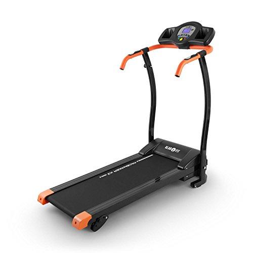 Klarfit Pacemaker X3 Laufband • Heimtrainer • Hometrainer • 1,5 PS • Geschwindigkeit: 0,8-12 km/h • Trainingscomputer • LCD-Display • 12 Programme • Pulsmesser • schwarz-orange