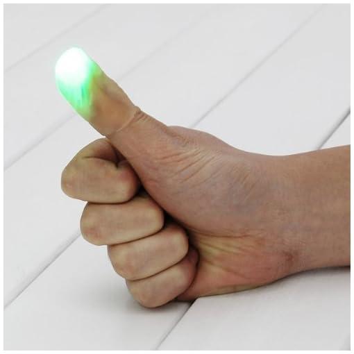 2-x-Leuchtender-Daumen-Tipps-Magic-Trick-Finger-anmutendes-Licht