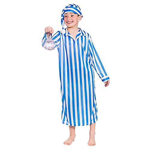 (Willie Winkie Boys Children Fancy Dress Costume Gown & Hat-Small 3-4 Years)