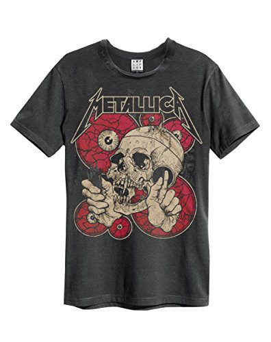 Amplificata metallica Watching You Girocollo T-Shirt grigio small
