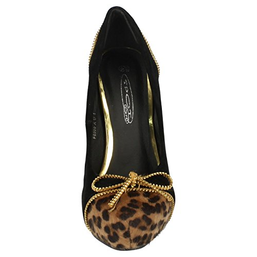 Spot On , Damen Pumps Black/Tan
