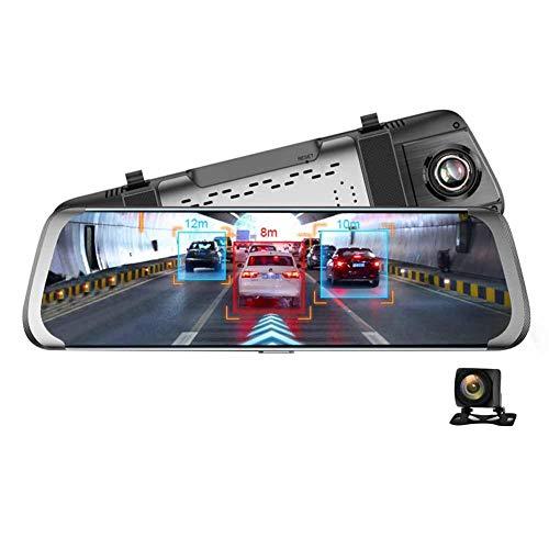 AnySell Junsun A930 Full HD 1080P 10 in 4G rétroviseur de voiture Android WiFi, caméra DVR, caméra Adas sprint GPS, objectif double avec écran tactile.