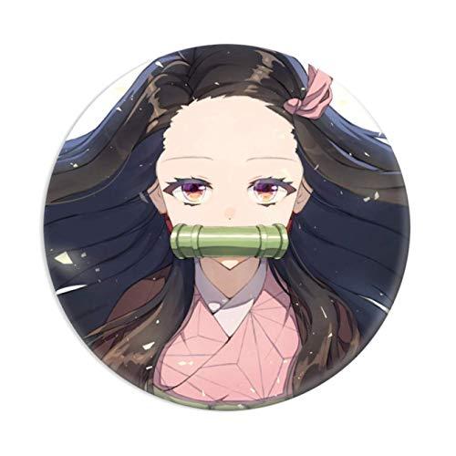 djryj Außergewöhnlich Demon Slayer Brosche, Japanische Anime Broschen & Pinnen für Kleidung, Beutel, Kappen und Bleistift Hülle - 50-58mm