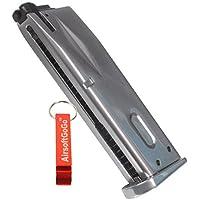 WE Cargador para M9 / M92 / M92F Serie GBB (Plata) - AirsoftGoGo Llavero Incluido