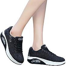 Zapatillas Running Hombre Mujer,JiaMeng Malla Exterior Zapatillas Deportivas Informales Zapatillas con amortiguación de Aire