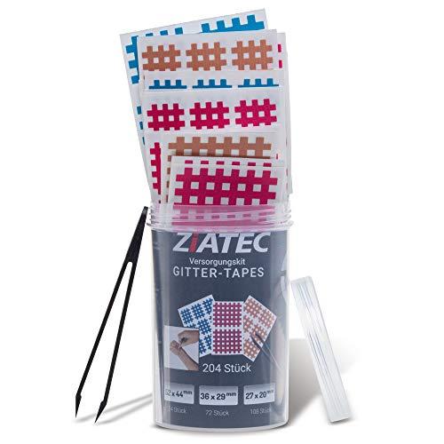 Ziatec Kintex Cross Tapes Box mit 102 oder 204 Pflaster Tape Schutzdose, Größe:Universalgröße, Farbe:Mix…
