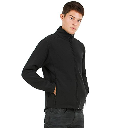 B&C - Herren Softshelljacke 'ID.701' Dark Grey/Neon Orange