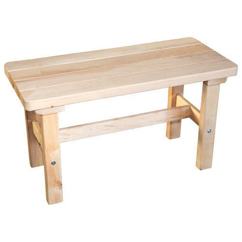 SudoreWell® Saunabank aus hochwertigem Erlenholz - 76 cm breit