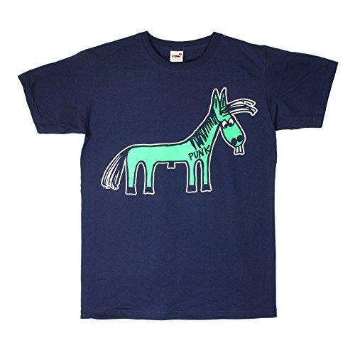 Wizo-Wizo con Logo Fert blu scuro maglietta Dunkelblau XL