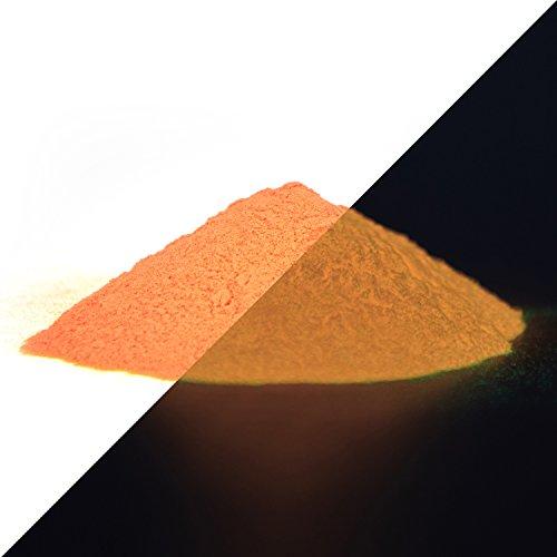 lumentics Premium Leuchtpulver Orange 40g - Im Dunkeln leuchtendes Farbpulver. Nachleuchtend, phosphoreszierend, fluoreszierend und nachleuchtend. UV Pigmente für Farbe, Harz, Lack (Typ: SrAl2O4)