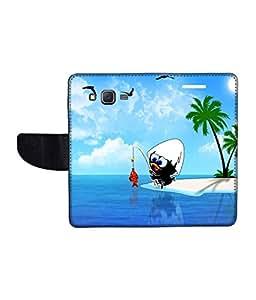 KolorEdge Printed Flip Cover For Samsung Galaxy J7 Multicolor - (1479-55KeMLogo10223SamJ7)