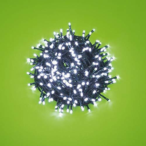 12,5 m 300 weiße LEDs mit Lichteffekt, grünes Kabel, EX Best Value, Weihnachtsbaumbeleuchtung, Weihnachtsbeleuchtung - Ex-kabel