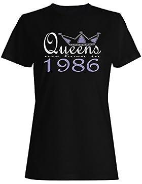 Nuevas reinas de diseño artístico nacen en 1986 camiseta de las mujeres b622f