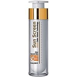 Frezyderm SPF 50, Protector solar con color, cara de terciopelo