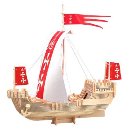 Etna Iława Kogge 3D Holzbausatz Schiff Boot Holz Steckpuzzle Holzpuzzle Kinder P129